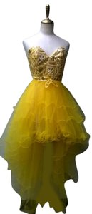 Lisa Nieves Sweetheart Tulle Prom Evening Sequin Dress