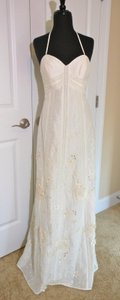 BHLDN Ivory Linen and Silk Shell; Cotton Silk Lining Greenhouse Gala Vintage Wedding Dress Size 0 (XS)