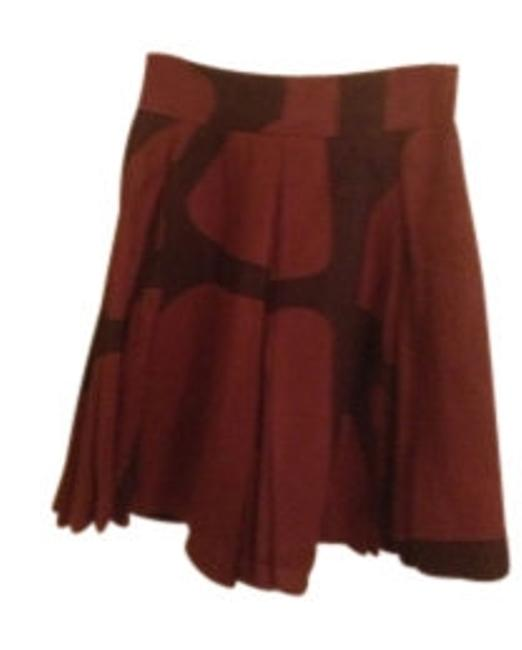 Preload https://item4.tradesy.com/images/banana-republic-brown-black-patterned-a-line-knee-length-skirt-size-petite-2-xs-7178-0-0.jpg?width=400&height=650