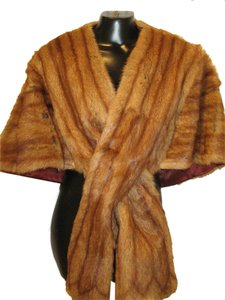 Real Fur Cape Wrap Shaw Shrug Fur Coat