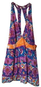Alice & Trixie Halter Paisley Cotton Sexy Back Top Purple, Orange, Turquoise
