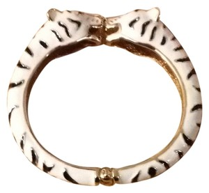 Unknown Enamel Tiger Leopard Hinge Bracelet