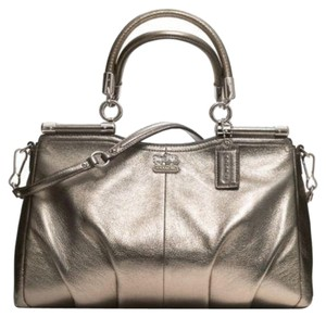 Coach Satchel in Metallic Pewter