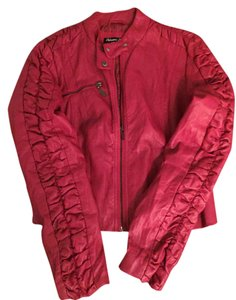 Palomares Fashions by George Palomares Faux Leather Red Leather Jacket
