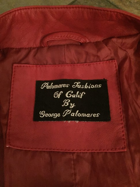 Palomares Fashions by George Palomares Faux Red Leather Jacket Image 1