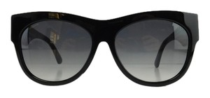 Prada New Prada SPR 28QS TKE-0A7 Black Acetate Full-Frame Navy Red Temples Sunglasses 56mm Italy