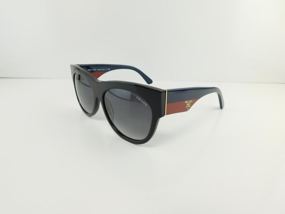 3de0481661654 clearance brand new prada sunglasses 28q 28qs tke 0a7 black blue red gray  gradient women a1415