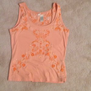 Anthropologie Top Orange