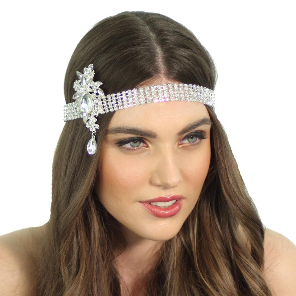 Kristin Perry 1920's Flapper Inspired Crystal Great Gatsby Bridal ...
