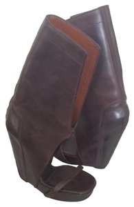 Rick Owens Leather Brown Boots