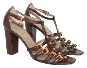 Via Spiga Buckle Size 6.5 Brown Sandals