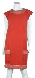 Chanel short dress Coral on Tradesy