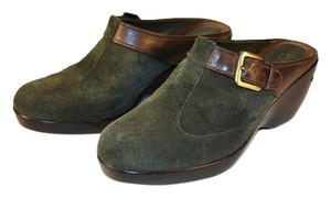 Cole Haan Nike Air forest green suede Mules
