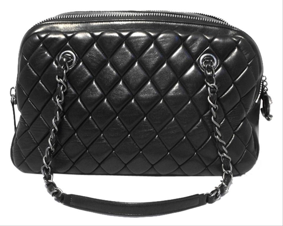 c40d4a351608 Chanel Quilted Medium Shopper Tote Black Leather Shoulder Bag - Tradesy