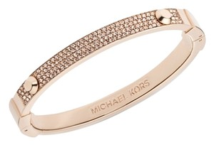 Michael Kors Set Pave Hinge Bracelet & Pave Slice Earrings