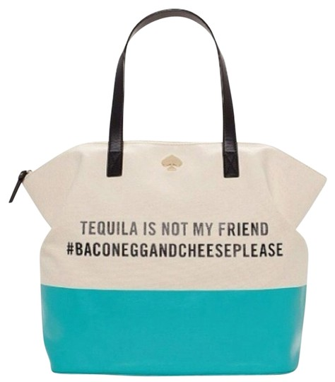 Preload https://img-static.tradesy.com/item/717981/kate-spade-tequila-is-not-my-friend-terry-tote-0-0-540-540.jpg