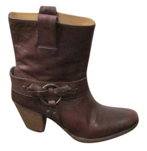 Frye Leather Leather Sole Dark Brown Boots