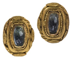 Chanel Chanel Early Vintage Poured Glass Earrings