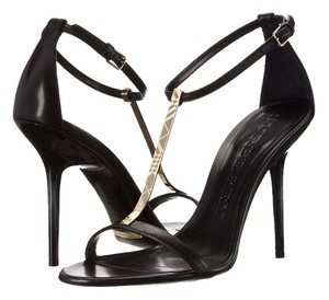 Burberry Cowling Leather Shoe Black Sandals