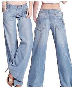 Geep Miley Trouser/Wide Leg Jeans-Light Wash