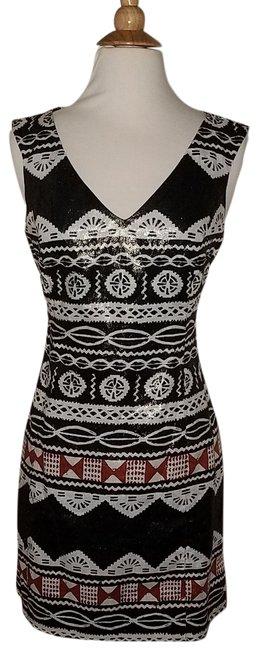 Preload https://img-static.tradesy.com/item/718087/nanette-lepore-aztec-tribal-print-short-night-out-dress-size-8-m-0-2-650-650.jpg