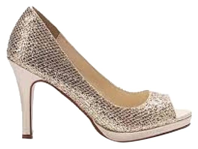 Item - Champagne Sari Glitter Formal Shoes Size US 8.5 Regular (M, B)