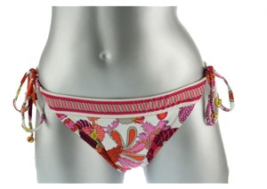Trina Turk TRINA TURK CAPRICE PINK PRINTED SIDE TIE STRING SWIMSUIT BOTTOMS 4