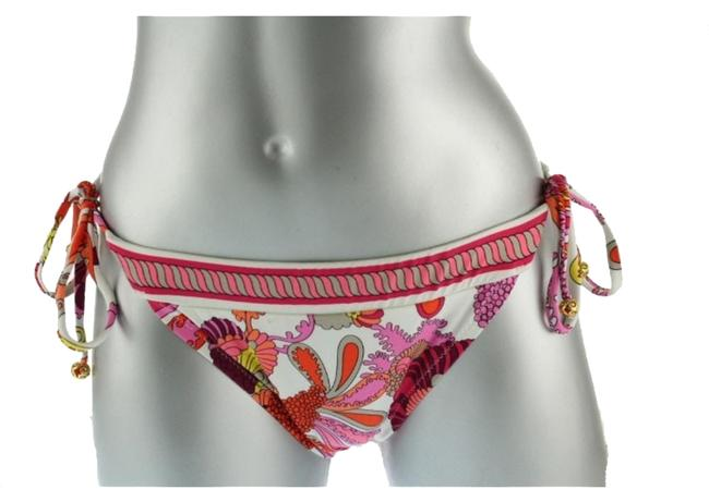 Trina Turk TRINA TURK CAPRICE PINK PRINTED SIDE TIE STRING SWIMSUIT BOTTOMS 4 Image 0