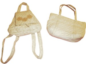 Handmade Backpack Cotton Shoulder Bag