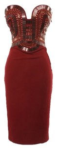 Burgundy Bodycon Dress Dress