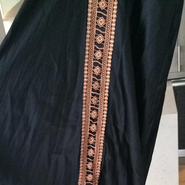 Black/ brown lace trim Maxi Dress by Miguelina