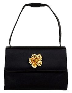 Chanel Evening Camellia Tote in black