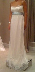Romona Keveza Ivory Silk Rk611 Feminine Wedding Dress Size 4 (S)