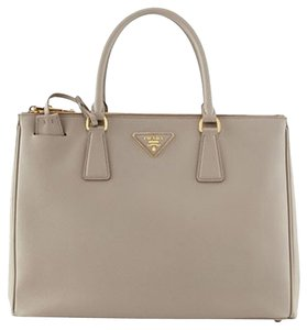 Prada Saffiano Gray Tote in Grey