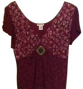 Krista Lee Top Burgundy