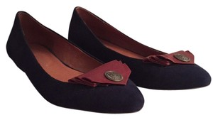 Jeffrey Campbell Navy Suede/Mahogany Leather Flats