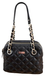 Kate Spade Leather Quilted Shimmer Gold Classic Metallic Hardware Retro Shoulder Bag