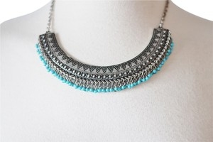 H&M Fringe Bead Tribal Collar Necklace