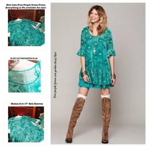 Free People short dress Turquoise Green on Tradesy