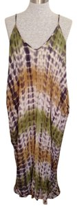 Multi earthy tone tie dyes Maxi Dress by Love Stitch Maxi