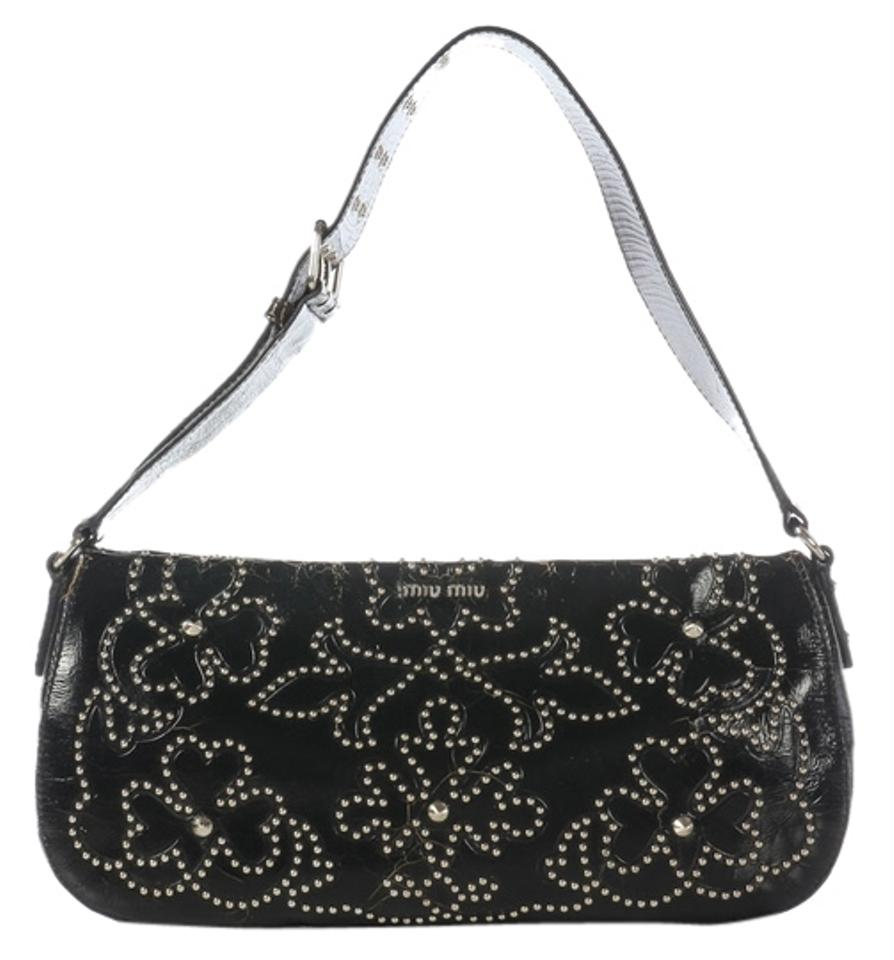 567b80cfbc50 Black Studded Breanna Shoulder Bag