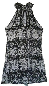 Apostrophe Sexy Afterhour Blouse Top Black, white, and grey