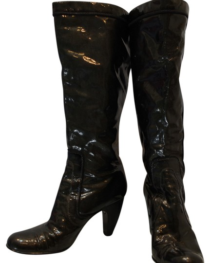 Söfft Patent Leather Knee High Sexy Gun Metal Gray patent gray Boots