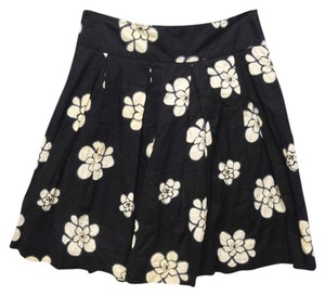 Gap Cotton Floral Skirt black