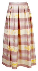 Dries van Noten Skirt Pink/Beige/Yellow