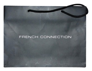French Connection Decor Shopping Paper Home Tote in Black