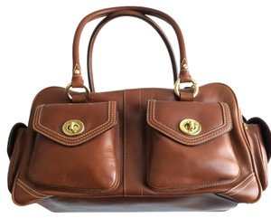 Coach Leather Tote Handbag Satchel in Brown