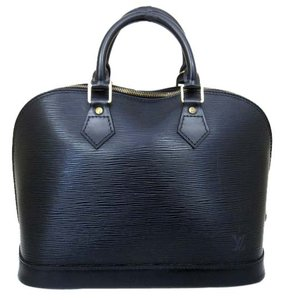 Louis Vuitton Alma Pm Alma Alma Handbag Wallet Tote Satchel in Black