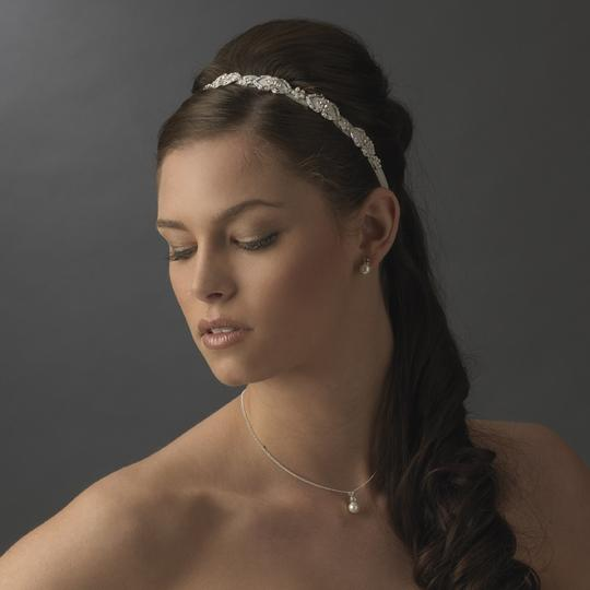 Ivory Ribbon White Pearls Kirsten Vintage Rhinestone Headband - Hair Accessory