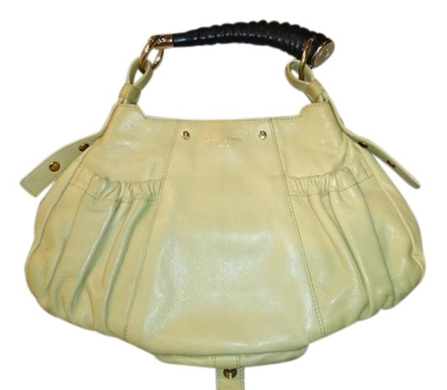 Item - Ysl Small Mala Horn Light Chartreuse Lambskin Leather Hobo Bag